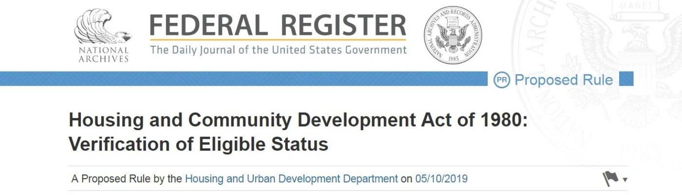 "The Network Submits Comment to HUD's ""Verification of Eligible Status"" Proposal image"
