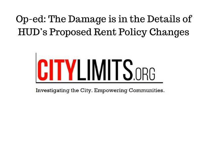 The Damage is in the Details of HUD's Proposed Rent Policy Changes