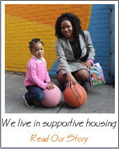We live in supportive housing